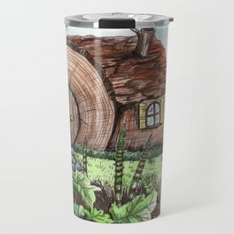 I Dreamed of a Log House Travel Mug