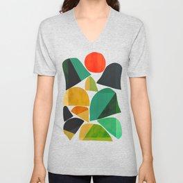 Mountains as the giants Unisex V-Neck
