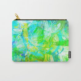 Flowers. Green Series Carry-All Pouch