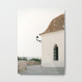 "Travel photography ""Ibiza white""   Modern wall art Ibiza Spain coast white tones sunset Metal Print"