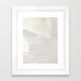 Relief [1]: an abstract, textured piece in white by Alyssa Hamilton Art Framed Art Print
