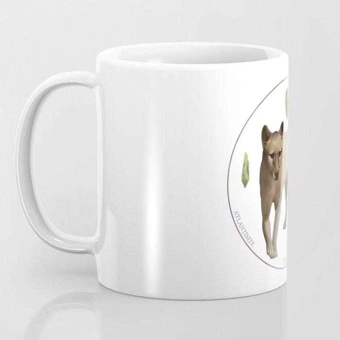 Thylacinus cynocephalus with atlantisite Coffee Mug