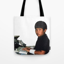 Hardcore coder with wrist band Tote Bag