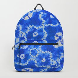 tie dye florals in ultramarine Backpack