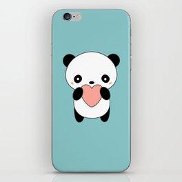 Kawaii Cute Panda Heart iPhone Skin