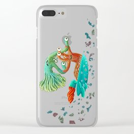 Surfing Monsters Clear iPhone Case
