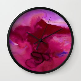 Vellum Watercolor Bliss 2J by Kathy Morton Stanion Wall Clock