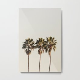 Golden Palms Metal Print