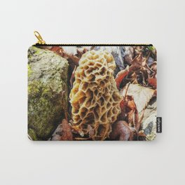 Morel Mushroom in the Wild Carry-All Pouch
