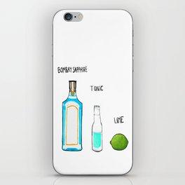 Bombay Sapphire Gin  iPhone Skin