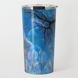 Branch on a background of the sky Travel Mug