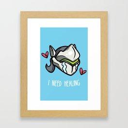 I Need Healing Framed Art Print