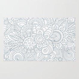 Background Zentangle (doodle) flowers Rug