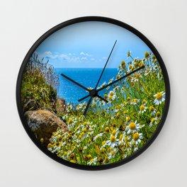 The Lizard Peninsula Daisies Wall Clock