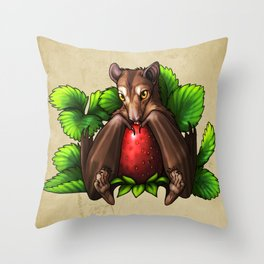 Strawberry Bat Throw Pillow