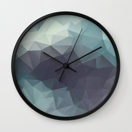 Polygon pattern . Triangles with a texture craquelure . 2 Wall Clock