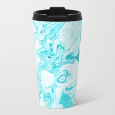Ocean Blue Marble #society6 #decor #buyart Metal Travel Mug