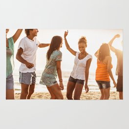 beach party on summer Rug