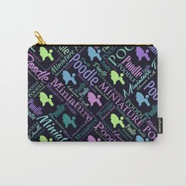 Miniature Poodle Word Art Carry-All Pouch