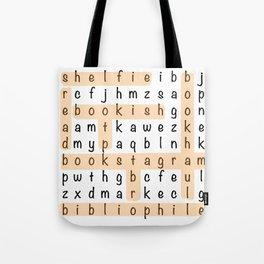 Bookstagram Word Search - Orange Tote Bag