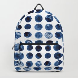 Indigo Circles Watercolor Pattern Backpack