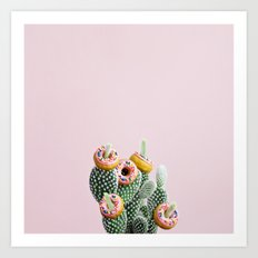 Donut Cactus In Bloom Art Print