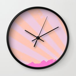 Town Rays Silhouette Grunge Wall Clock
