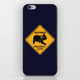 Warning! Insanely Cute - Funny Koala Bear Road Sign iPhone Skin