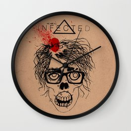 Mild Mannered Zombie Wall Clock