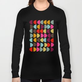Geometric in Bright Fall Colors Long Sleeve T-shirt
