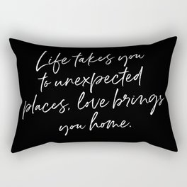 Life Quote Art Rectangular Pillow