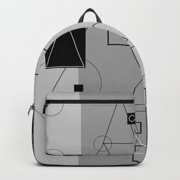 Gray Geometry 3 Backpack