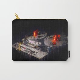 retro tape recorder painting / illustration - vintage music equipment Carry-All Pouch