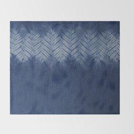 Shibori Chevron Stripe Throw Blanket