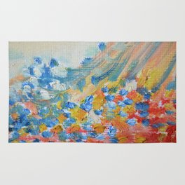 Pastel Pastel Abstract Oil Rug