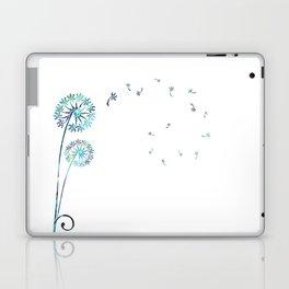 Dandelion Paua White Laptop & iPad Skin