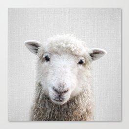 Sheep - Colorful Canvas Print