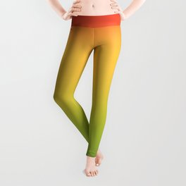 Abstract Colorful Tropical Blurred Gradient Leggings