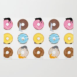Cats and Donuts Rug