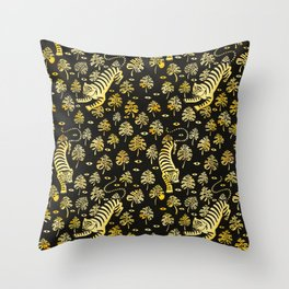 Tiger jungle animal pattern Throw Pillow