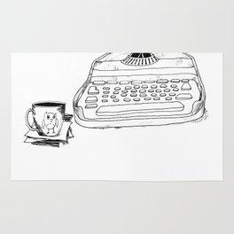 Earnest Hemingway Writing on Typewriter Rug