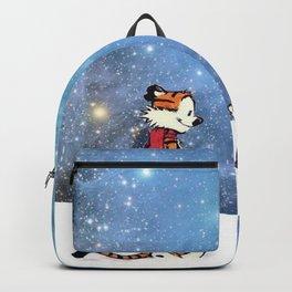 Calvin Hobbes snow white Backpack