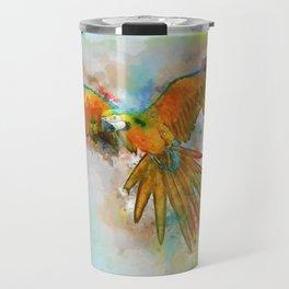 High as a Macaw Travel Mug