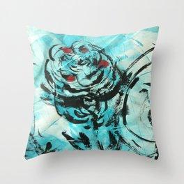 Bustin' Rose Throw Pillow
