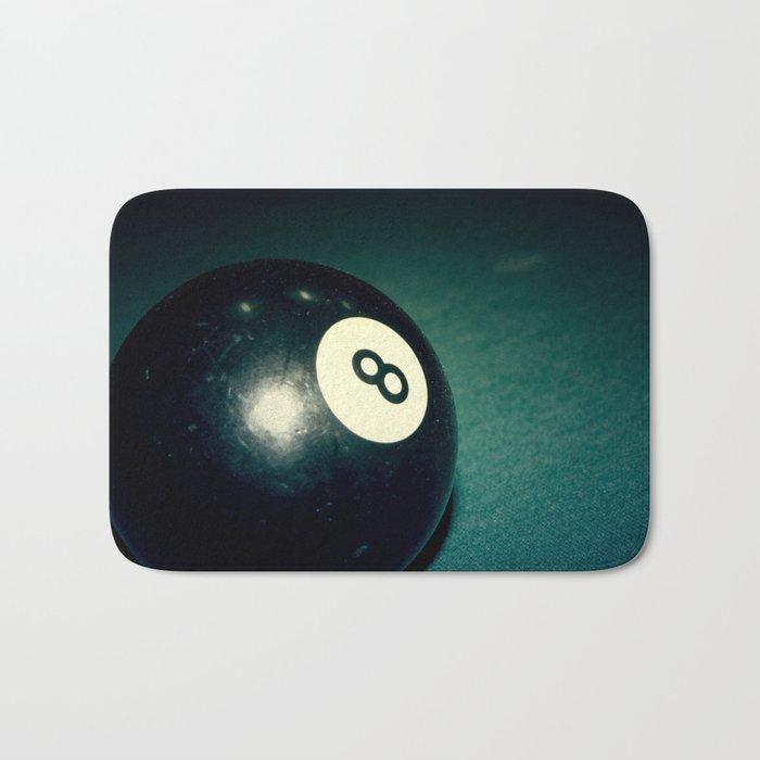 Eight Ball-Teal Bath Mat