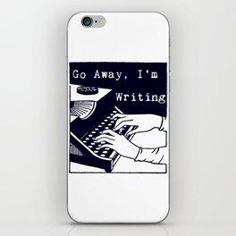Go Away, I'm Writing (Navy) iPhone Skin