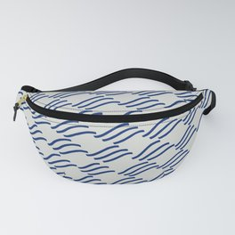 Wave Checkers, Navy Fanny Pack