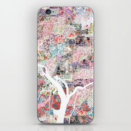Washington map flowers iPhone Skin