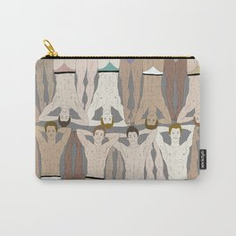 Retro Male Swimmers Carry-All Pouch