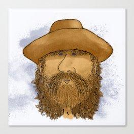 Flynt Locke, Cowboy Mountain Man Canvas Print